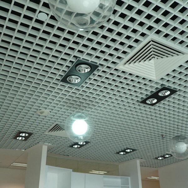 Space Cubes Metal Ceiling